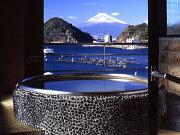 富士山の見える展望風呂の一例