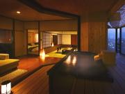 客室露天風呂の一例