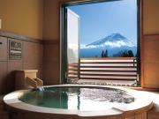 富士山の見える露天風呂付客室の一例
